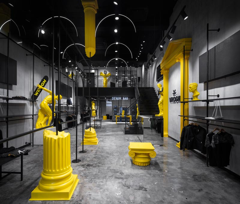 concept del flagship store Wrogn by Restore Design
