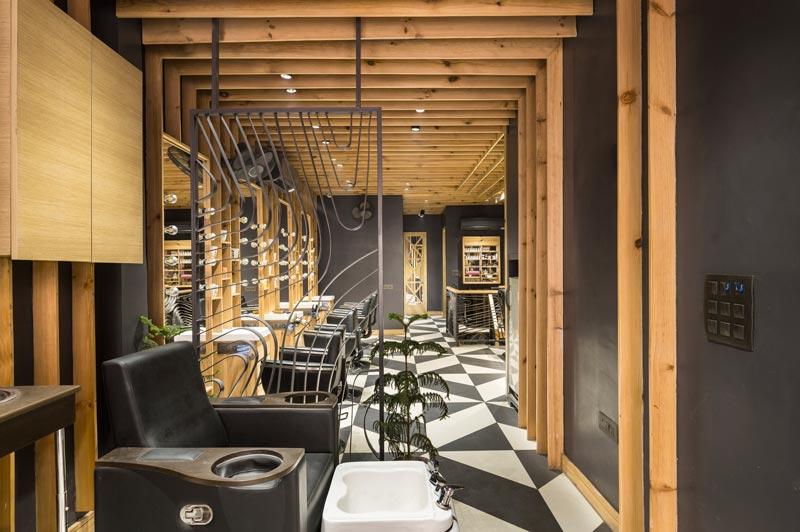 Sync Design Studio progetto Salone Jawed Habib