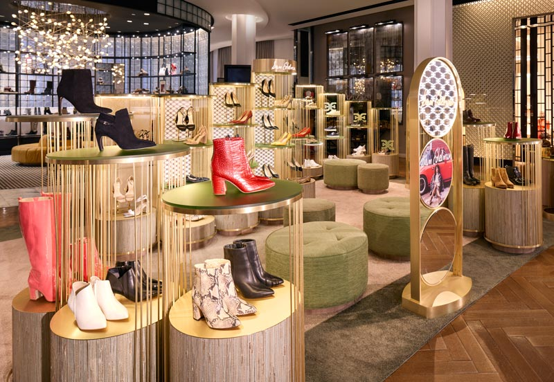 Christian Lahoude Studio created a new shop-in-shop design concept for lifestyle brand Sam Edelman