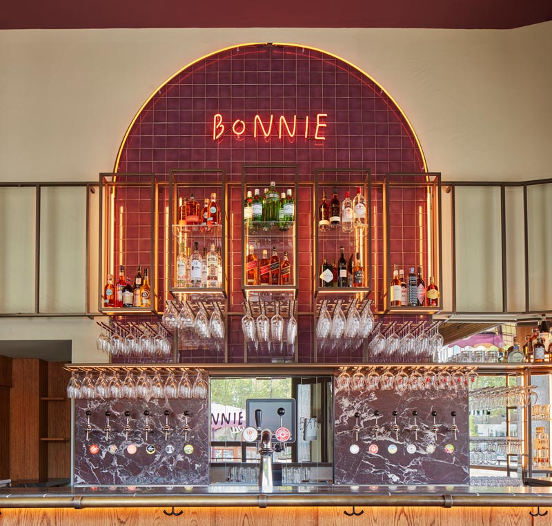Studio Modijefsky signs the interior design of Bonnie Café in Amsterdam