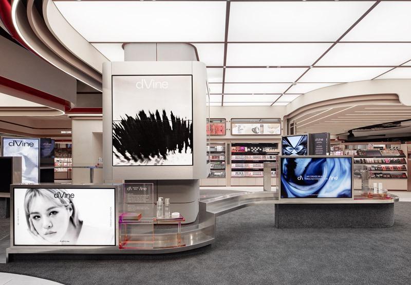 progetto di interior design per il beauty store dVine