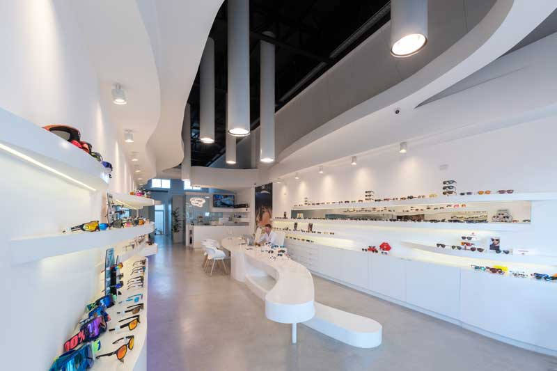 Castellino Arquitectos  progetto per negozio Ottica Lazzarini