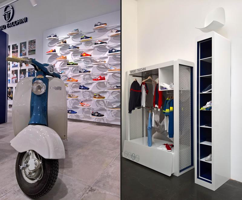 showroom Sergio Tacchini progettato e realizzato da Nicola Zema