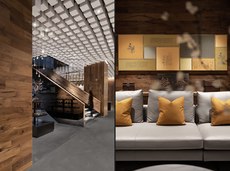 Tongrentang Zhima Health by  designer Wang Yong - Wuxiang Space Architecture Design (WUUX)