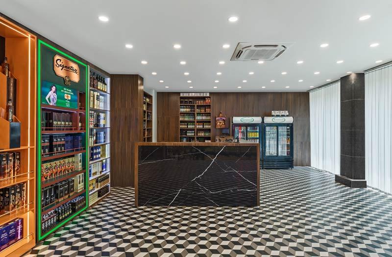 New Delhi-based Bora Da Designs has designed The Scotch Club