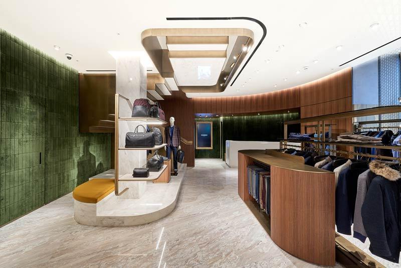 Il concept del nuovo flagship store Canali di Londra