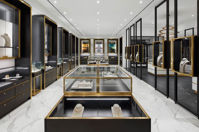 Interior design of the Classic Creations jewelry store by Cecconi Simone Inc.