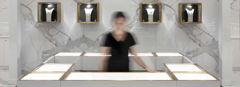 Design firm Cecconi Simone Inc designed the Classic Creations jewellery shop.