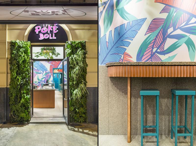 Lo studio Didea ha progettato PokèBoll un piccolo locale da asporto per pokè