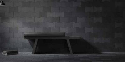 Fine porcelain stoneware floors and walls embossed and carved.