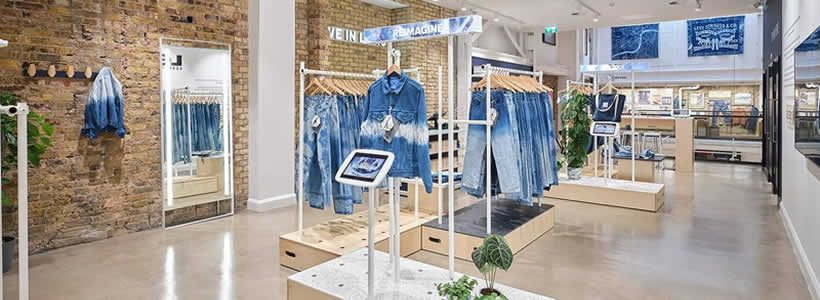 Levi's opens new concept store in Soho London.