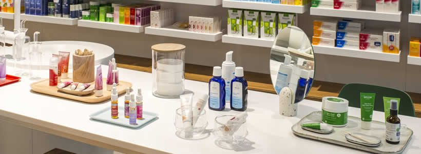 Flagship for Weleda designed by Stories Designed For Consumers