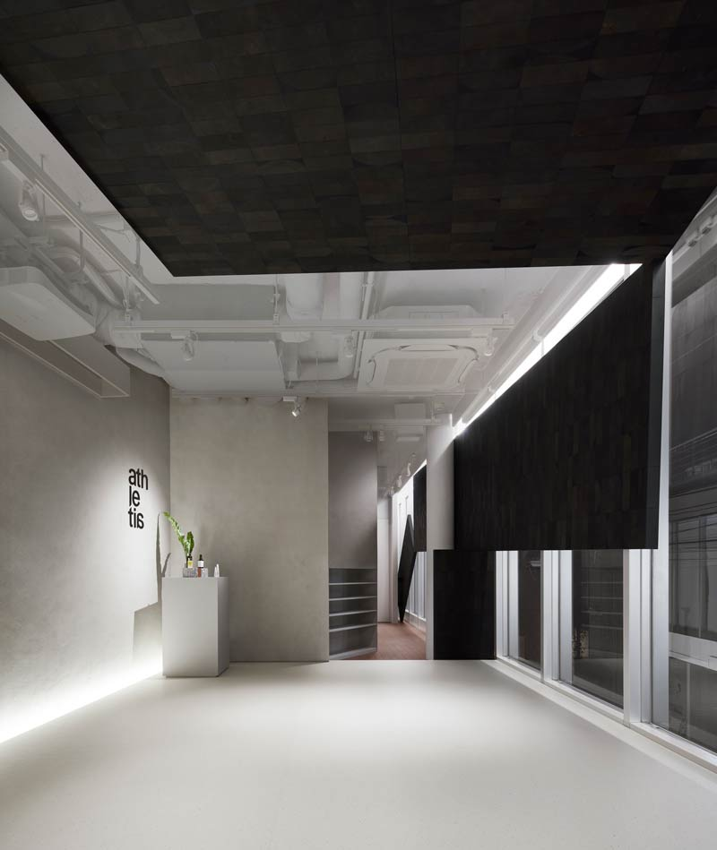 nendo designs the concept store for the skin care brand Athletia