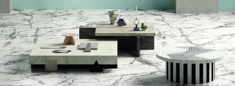 A new marble effect texture joins the MARMI MAXIMUM collection by Fiandre.