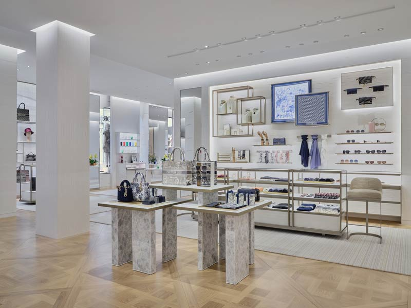Recently renovated the Dior flagship boutique in Moscow