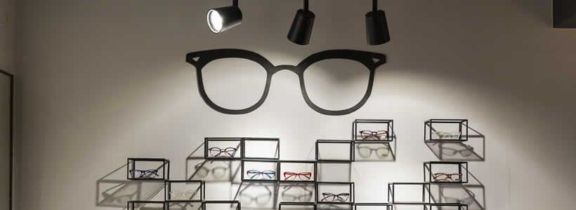 Sync Design Studio designed the Optics Express store.