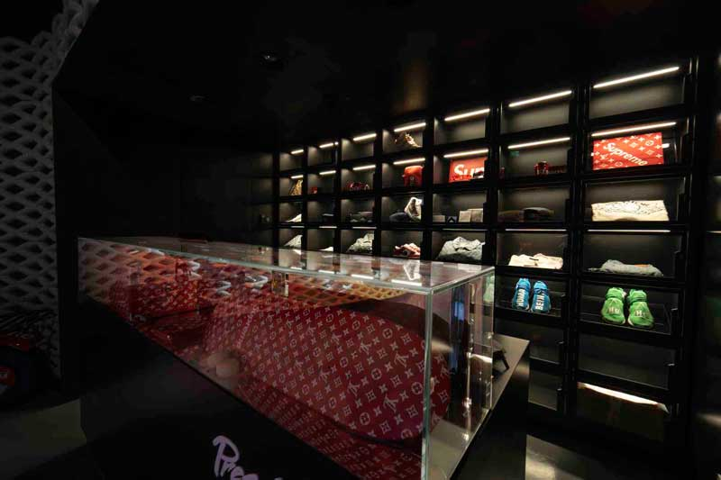 External Reference designed the Presentedby store at Level Shoes