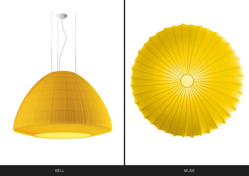 Le lampade Axolight si tingono delle nuance Pantone 2021