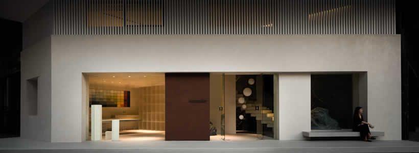 Lico Design rivoluziona il rapporto fra spazio e prodotto nel Novacolor showroom di Huizhou in Cina.