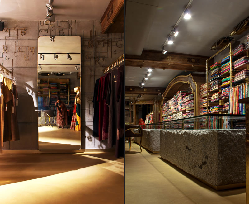 RMDK designed the bridal area of Heritage boutique based in New Delhi