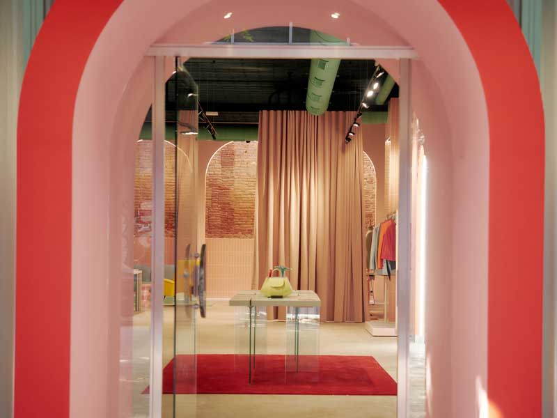 The universe of the leather fashion design firm reflected in their flagship store designed by Evvo Retail