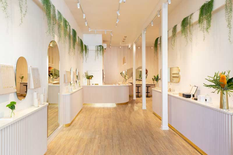 Mejuri Flagship Store in  San Francisco designed by DS Studio Inc