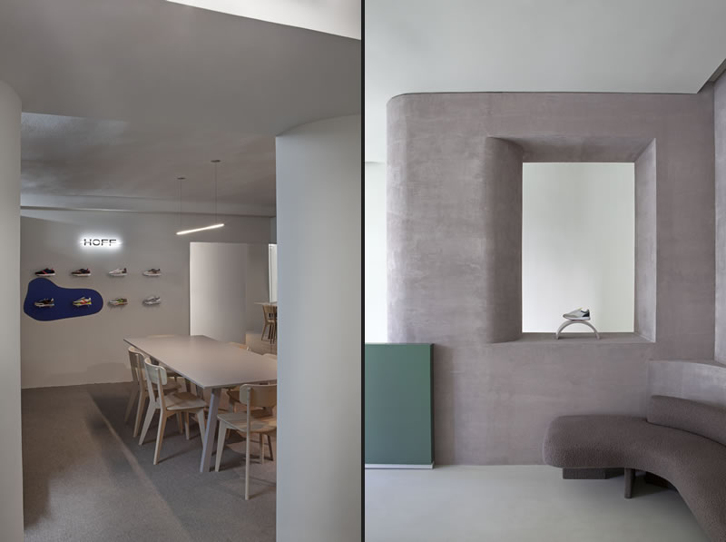 Studio Ciszak Dalmas Ferrari progetto Flagship Store HOFF Madrid