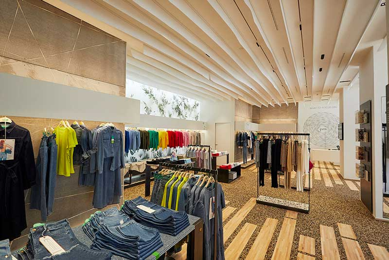 United Colors of Benetton debuts a new, highly sustainabile store concept