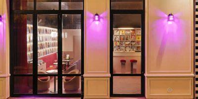La luce di Horo per il mood disco club del nuovo Rupture Store e Cafè a Parigi progettato da Pierre Gonalons