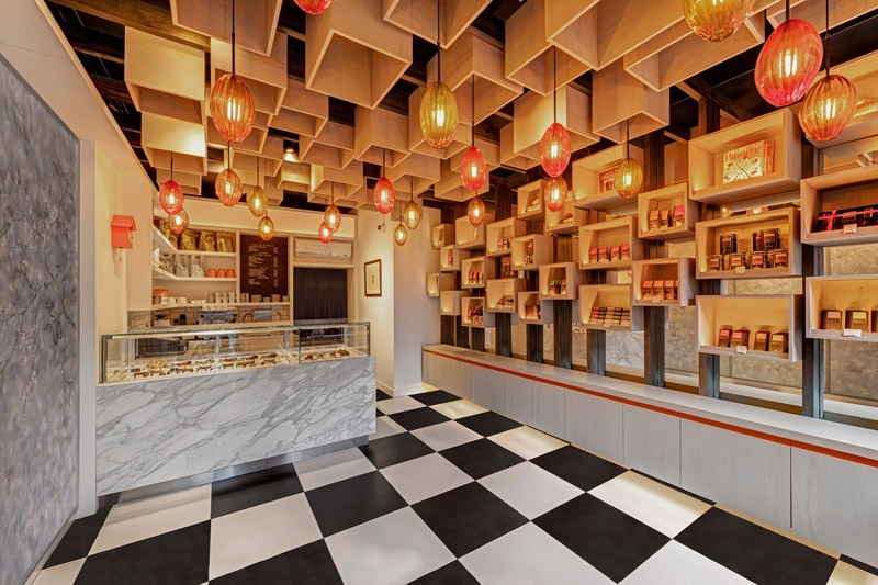 Jonathan Clark Architects progetta la boutique del cioccolato William Curley