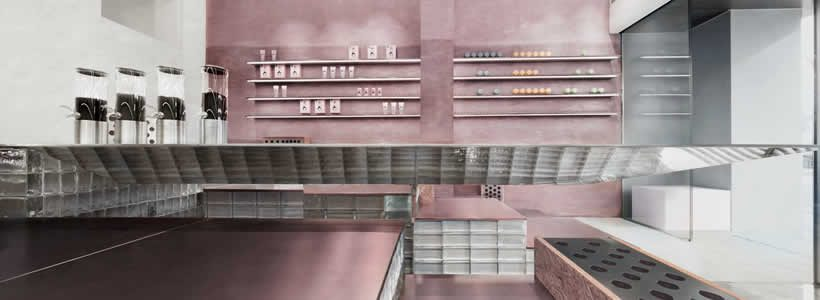 """Cosmetea Store Retail Concept – """"Tea House"""" Floating in the Mountains"""