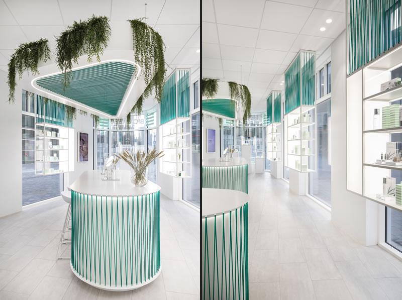 Lo studio Basalt Architects firma il concept store del brand Bioeffect