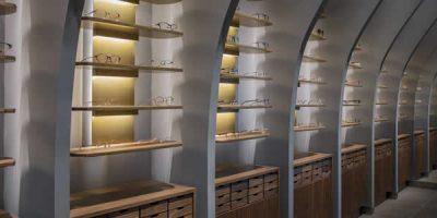 Progetto per il negozio di Ottica Amoon, Pechino.