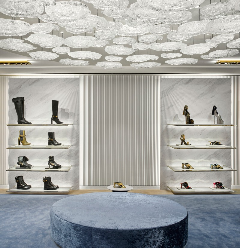 Versace has opened a new flagship store on Rue Saint Honoré in Paris designed by Gwenael Nicolas, Curiosity.