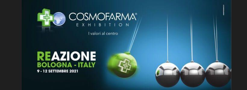 """Cosmofarma """"Reazione – I valori al centro"""" Dal 9 al 12 settembre a Bologna Fiere"""