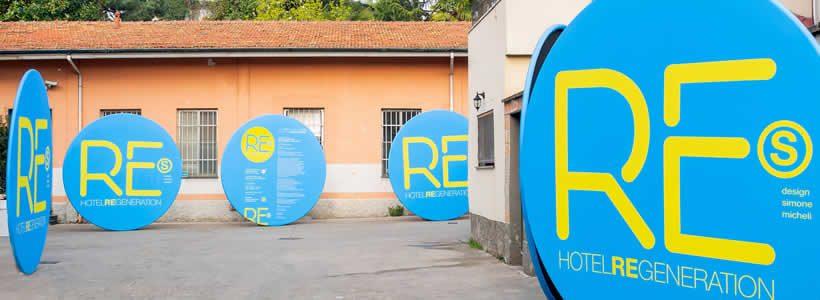 HOTEL  REGENERATION – Simone Micheli connects design to Art – Fashion – Food – Journalism – Music – Show – Sport