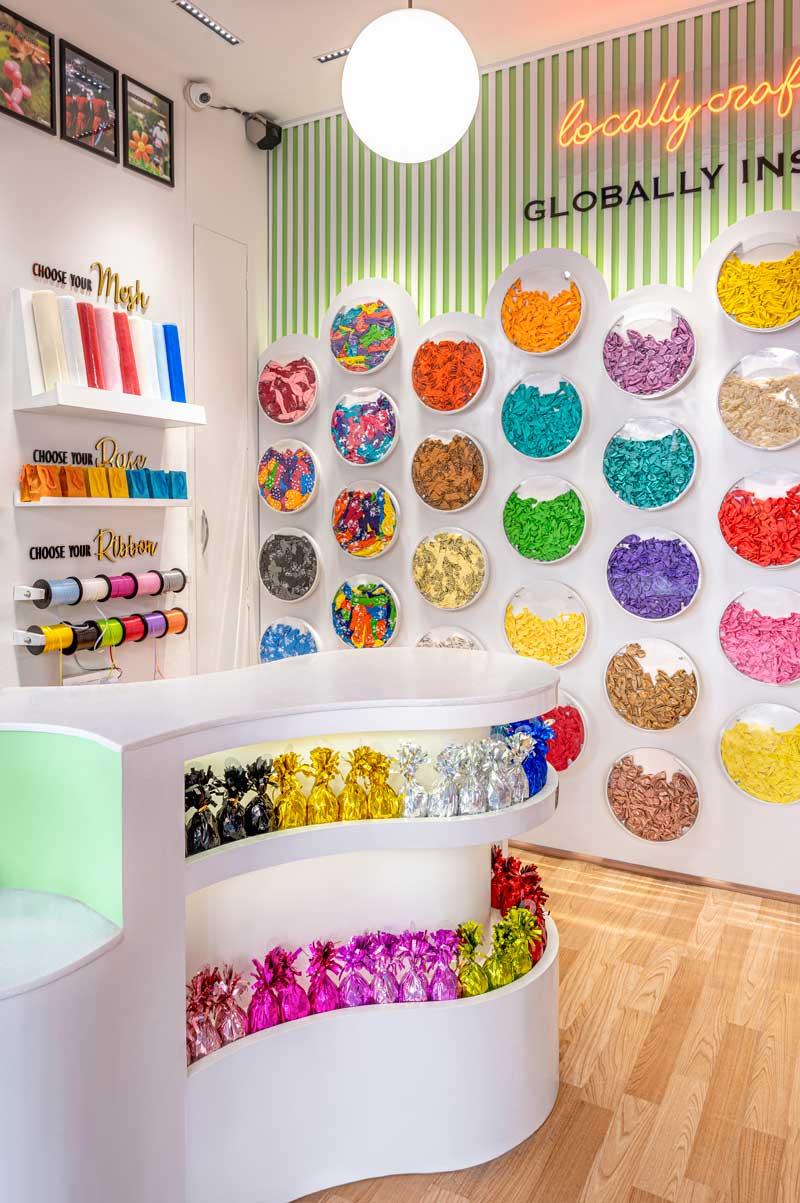 Studio Bipolar designed the Balloon Kraft Store