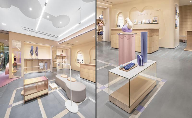 Gli architetti di Sò Studio hanno realizzato un nuovo concept per il flagship store di MAIA ACTIVE.