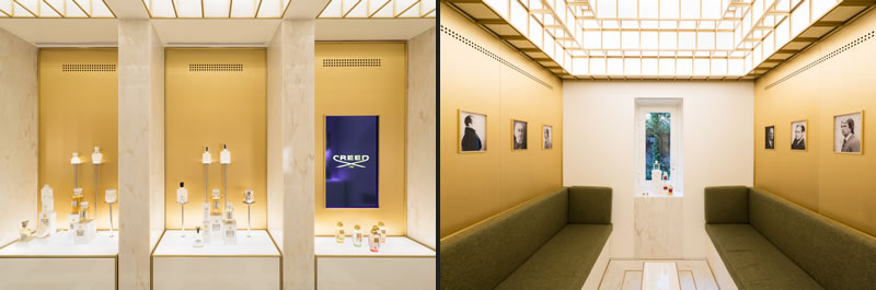 Can Onaner progetto della boutique Creed di Roma