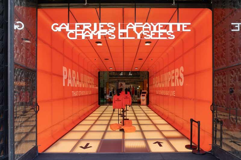 PARAJUMPERS - Nuovo pop-up nelle Galeries Lafayette a Parigi
