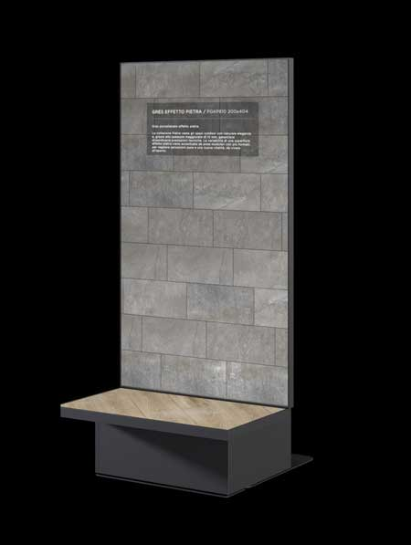 TILE CORNER totem digitale interattivo dal design minimal